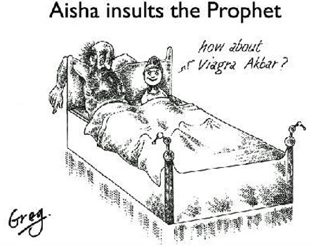 Aisha insults Prophet Muhammad cartoon