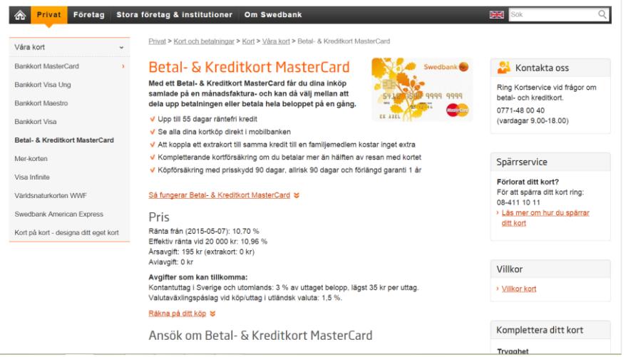 Swebank-Kreditkort-Kort24